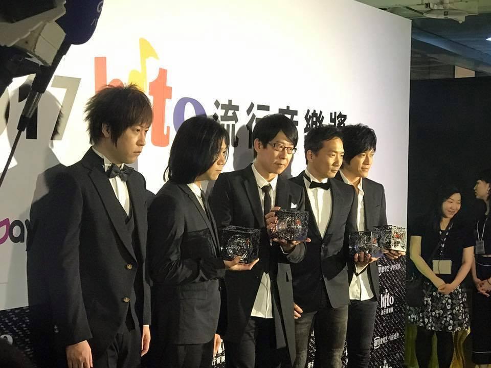 五月天在hito流行音樂獎拿下4獎。記者梅衍儂/攝影