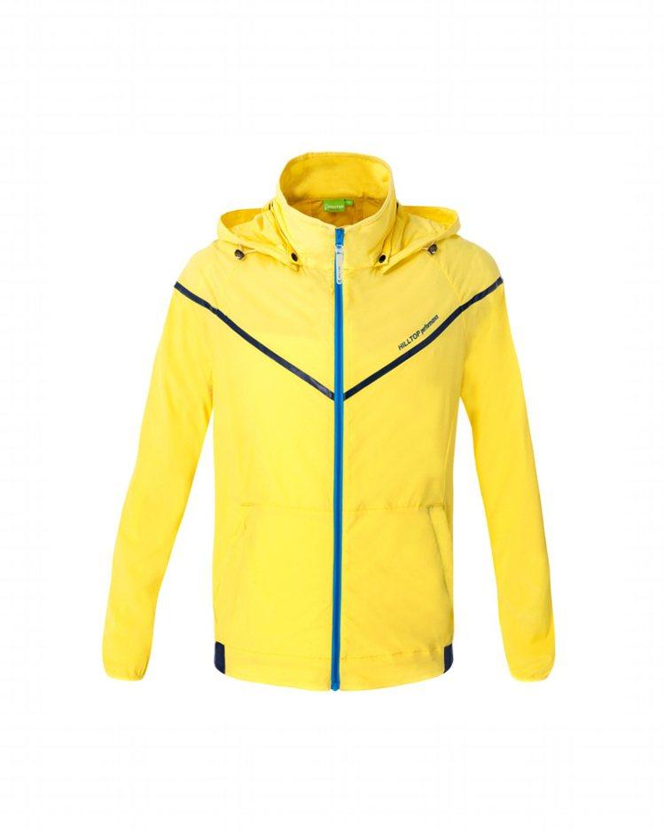 山頂鳥男用HIGH IQ外套,擁有超潑水、HIGH IQ抗UV、絕佳彈性等機能,...