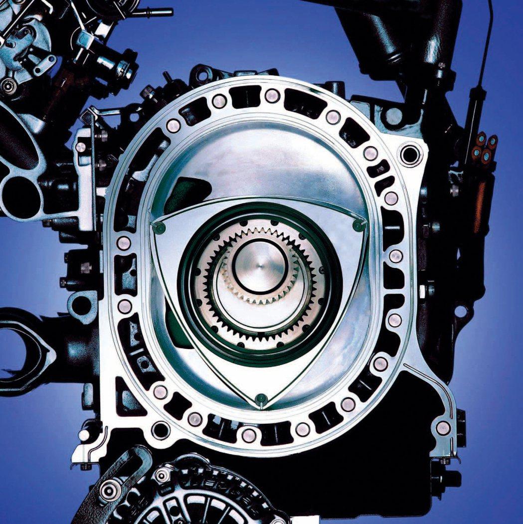 轉子引擎的基本概念源自德國,具有低阻力機械結構與高出力的特性。 Mazda 提供