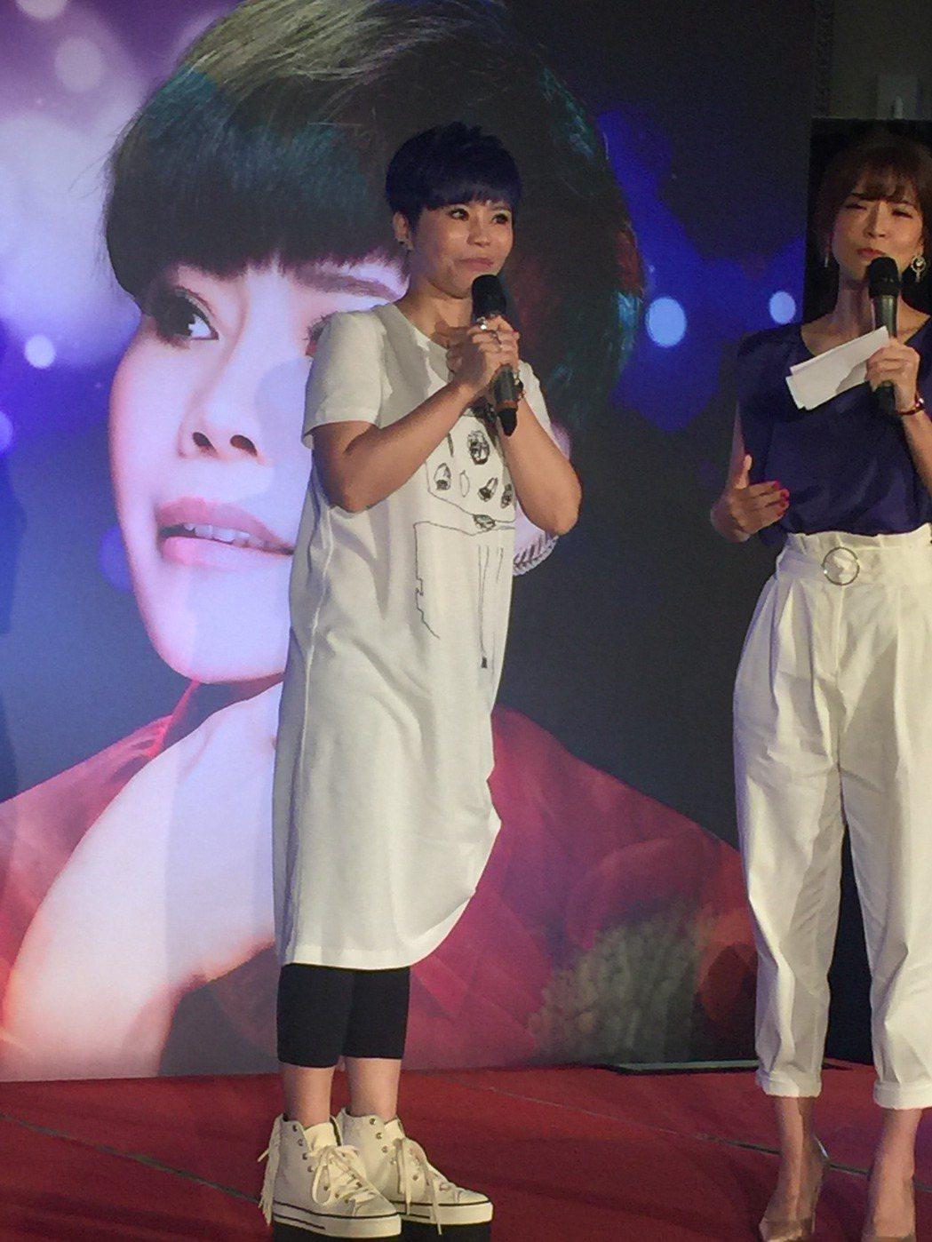 詹雅雯宣布演唱會。記者袁世珮/攝影