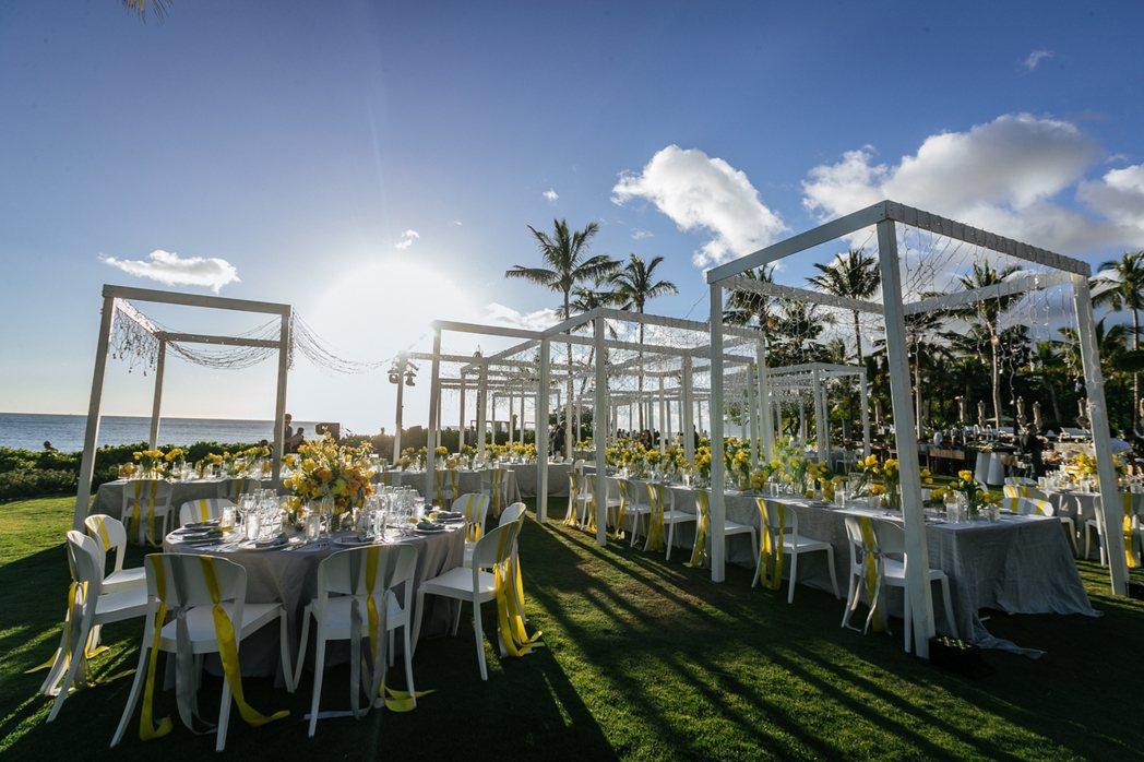 安以軒夏威夷婚前晚宴會場。圖/安以軒工作室提供