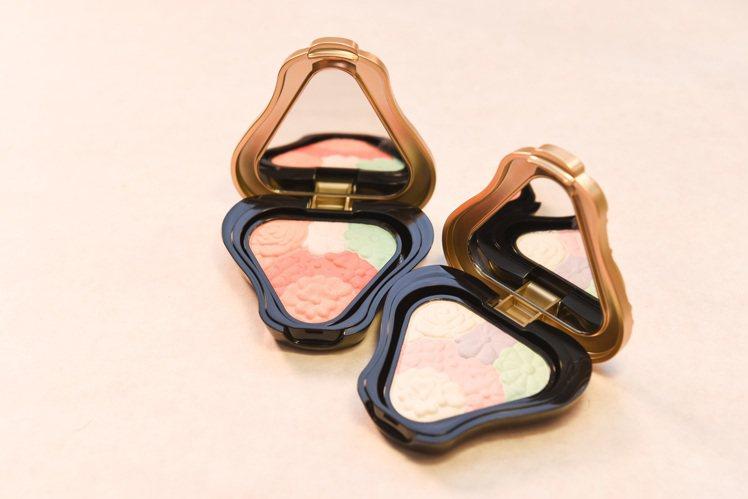 去年8月品牌進行全面更新設計,紐約時裝周也使用今年新推出的舞春蝶影頰彩系列。圖/...