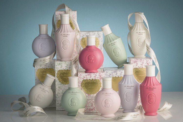 品牌從Icon到色系都走粉嫩風。6月新品花園漫步美體系列。圖/Les Merve...