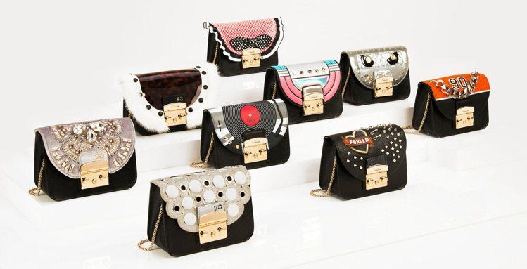 Furla全新限量90周年手袋系列共推出9款翻蓋、5種顏色的袋款,可變換45款不...