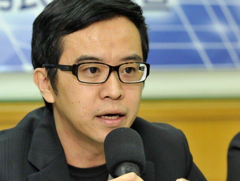 國民黨立委楊鎮浯辦公室主任黃子哲。 圖/聯合報系資料照片