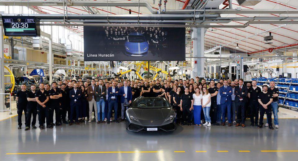Lamborghini賣出第八千輛Huracan。圖/Lamborghini提供