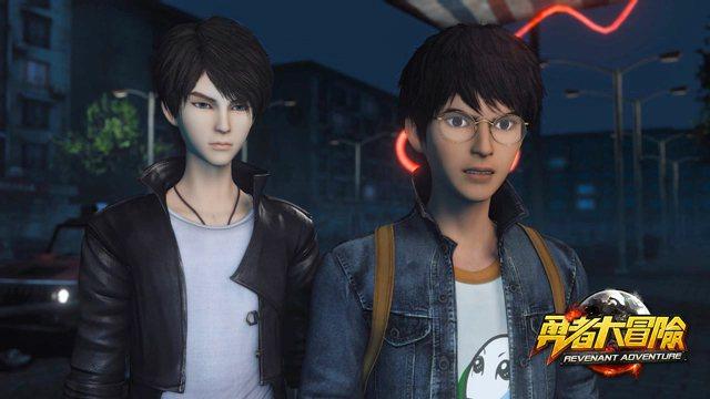 《勇者大冒險》同名動畫主角「神荼」(左)和「安岩」(右)。