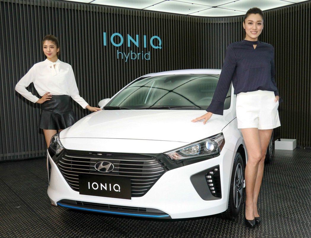HYUNDAI IONIQ hybrid將價位壓在百萬以內。 記者史榮恩/攝影