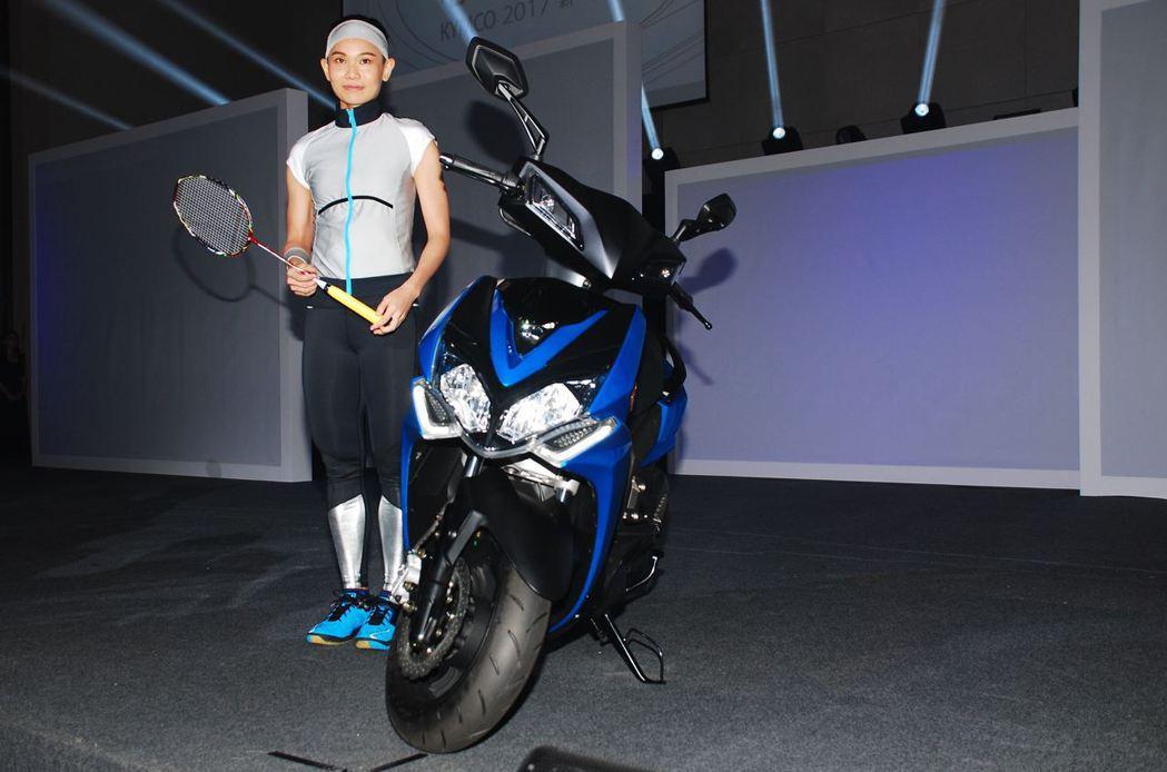 Racing S 150代言人世界羽球球后戴資穎。記者林昱丞/攝影