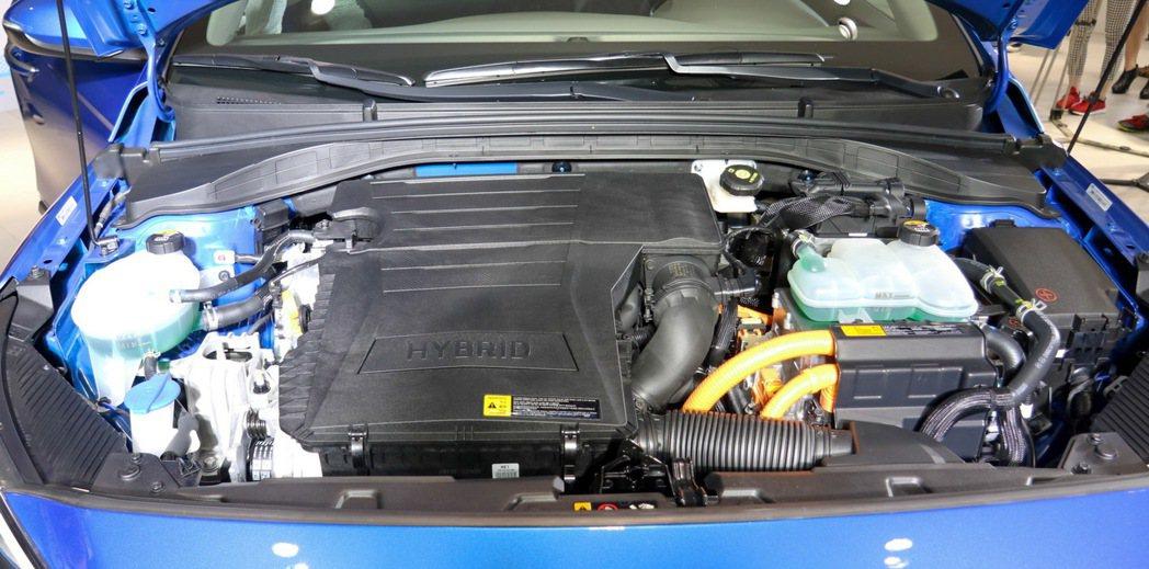 HYUNDAI IONIQ hybrid引擎室。 記者史榮恩/攝影
