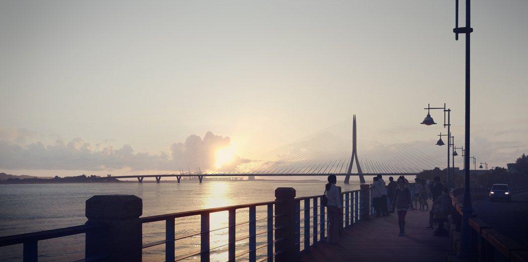 淡江大橋模擬圖。 圖/中興工程顧問團隊提供