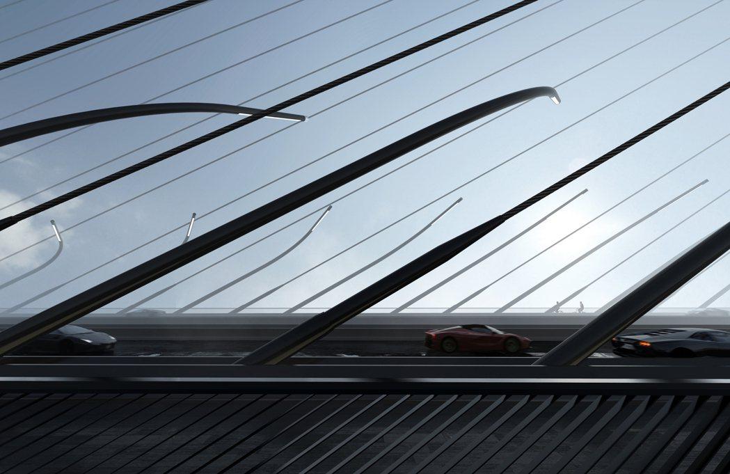 哈蒂團隊提案的橋型是全球最長跨距的單塔不對稱斜張橋;鋼箱梁採吊裝及全斷面焊接。 ...