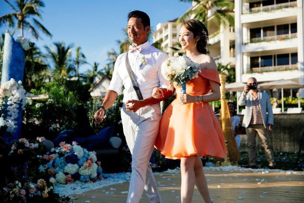 安以軒夏威夷婚禮,Linda廖語晴擔任伴娘。圖/安以軒工作室提供