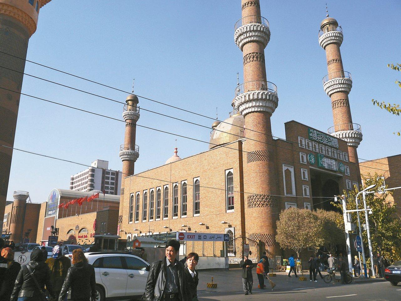 烏魯木齊市南北疆的分界點,花海以北疆為最。 記者羅建怡/攝影