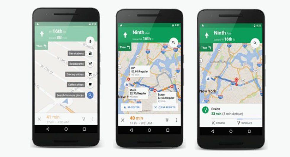 智慧型手機可使用Google map當作導航。圖/摘自carscoops.com