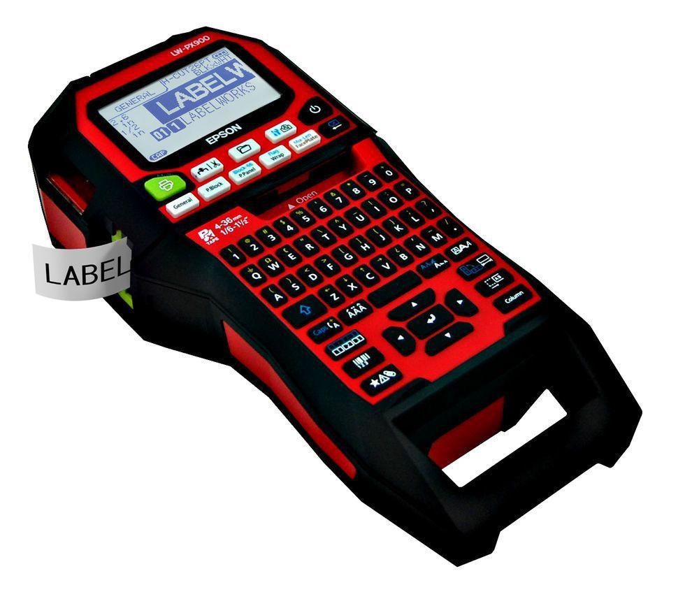 Epson LW-Z900工程用手持標籤機。 台灣愛普生/提供