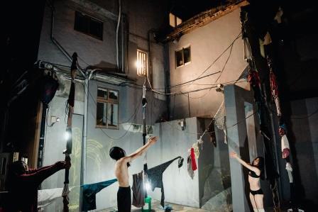 默默計畫於寶藏巖燈節,《窗與牆》。 攝影陳藝堂