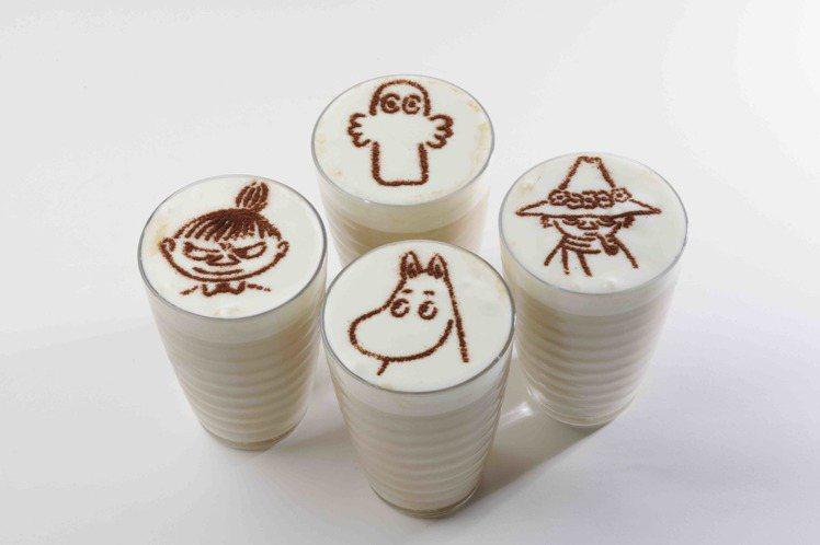 Moomin Café特製拿鐵。圖/Moomin Café