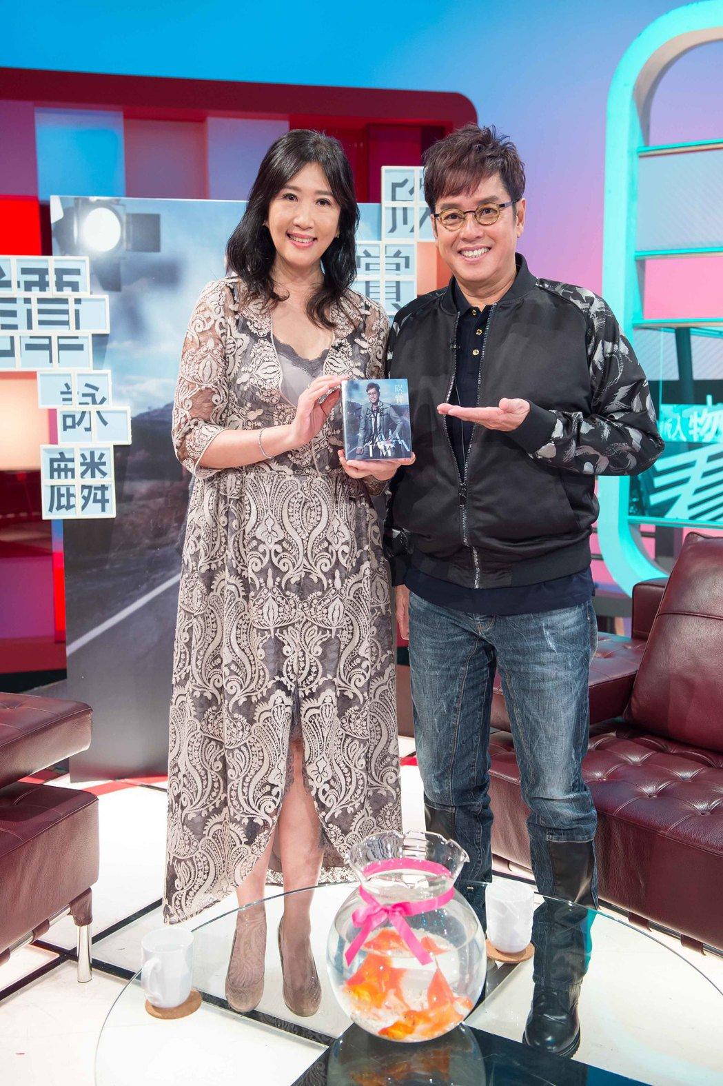 譚詠麟(右)上「TVBS看板人物」。圖/TVBS提供