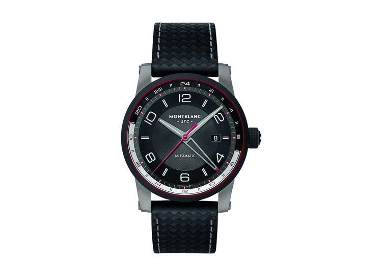 萬寶龍TimeWalker時光行者系列兩地時間腕表,123,500元。圖/萬寶龍...