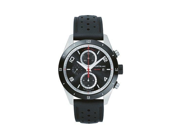 萬寶龍TimeWalker時光行者系列自動計時腕表,138,000元。圖/萬寶龍...