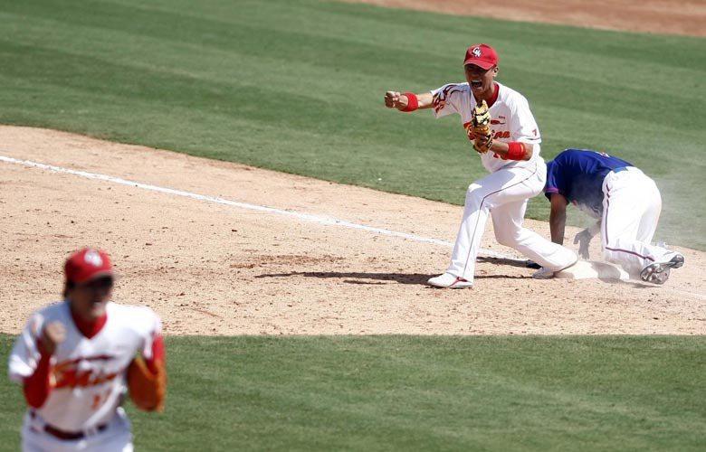 2008年北京奧運的棒球賽,台灣兵敗五棵松棒球場,被棒球迷視為「國恥日」 圖/中新社