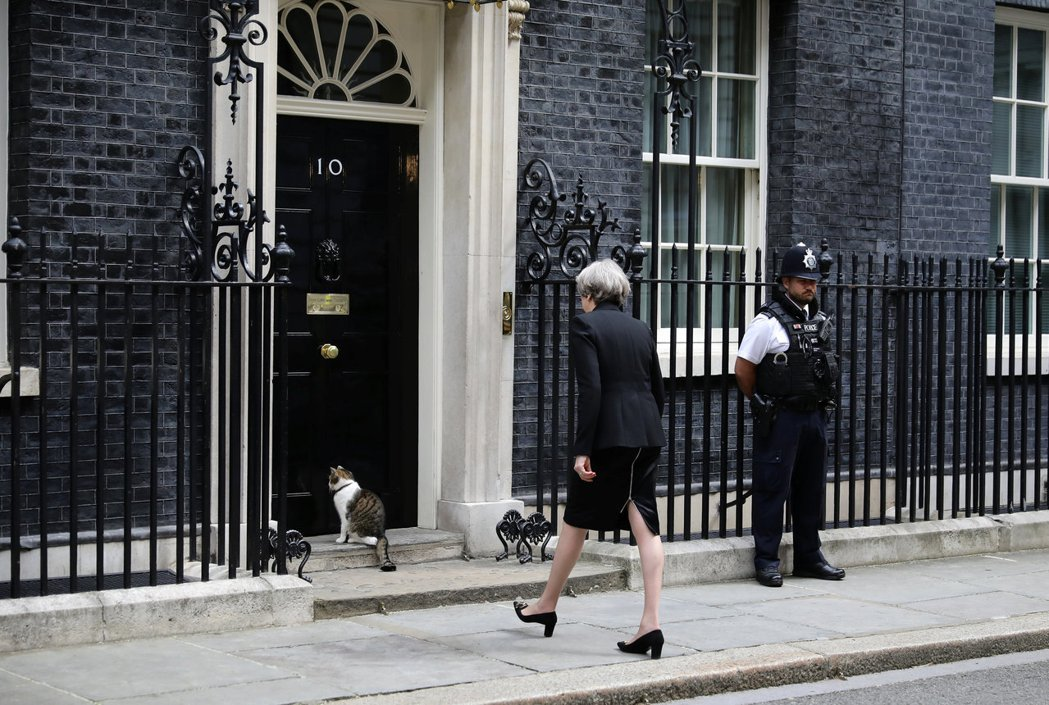 2016年夏天,英國公投脫歐後,梅伊也接替引咎下台的卡麥隆(David Came...