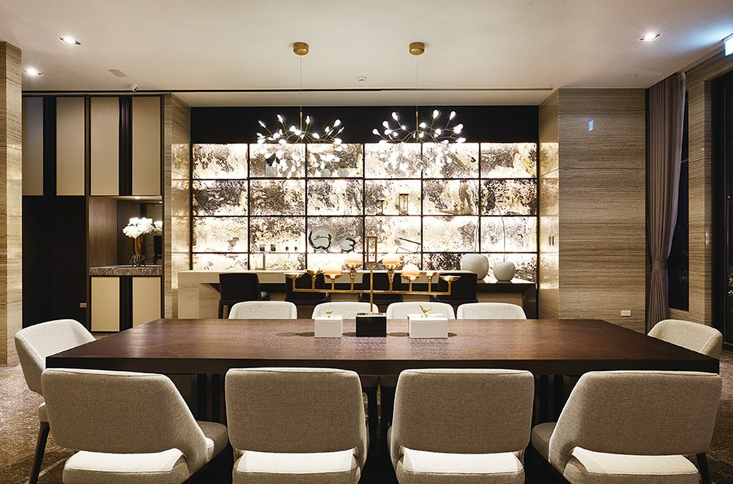 動靜結合光影的知性交誼廳。 圖片提供/光洲建設
