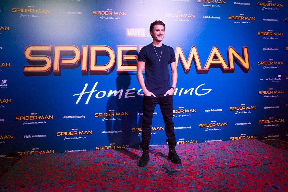 湯姆霍蘭德出席「蜘蛛人:返校日」粉絲見面會。圖/索尼提供