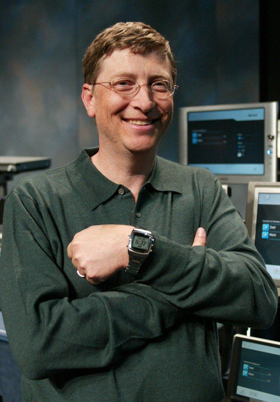 從2003年開始世界首富比爾蓋茲就佩戴了Casio的電子表,平均每只價值都不會超...