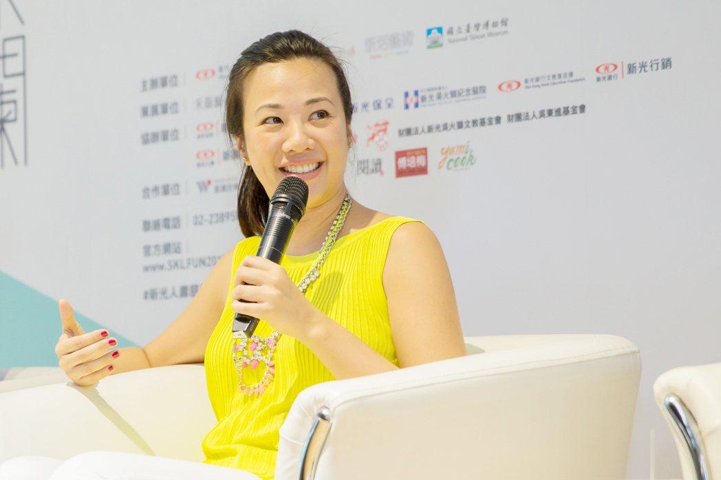 新光人壽副總吳欣盈在臉書上宣布,打贏離婚官司。圖/新光提供
