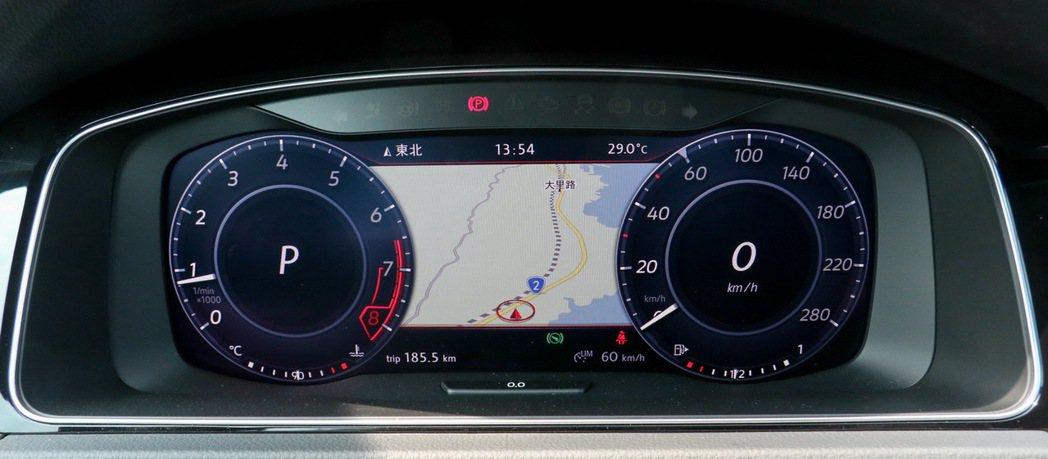 12.3吋Active Info Display全邏輯數位化儀表。 記者史榮恩/攝影