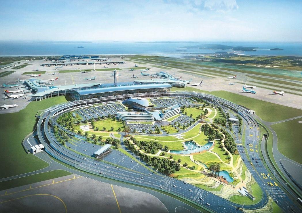 仁川機場將於2018年啟用新航廈。圖/歐新社