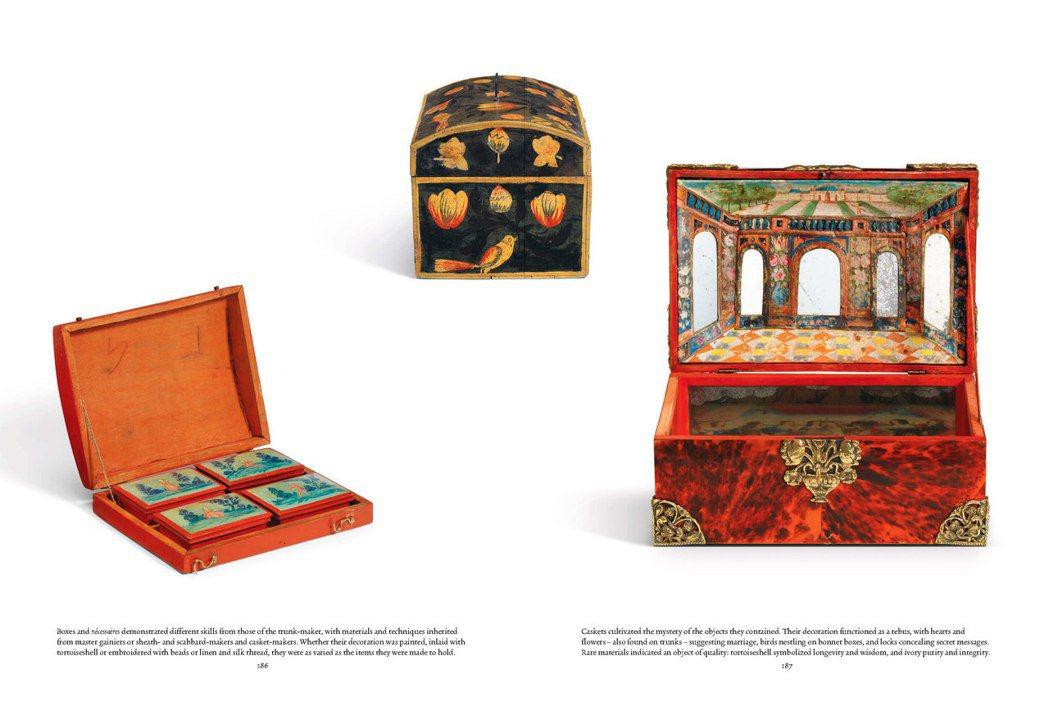 各式各樣具各地文化色彩的箱子,都是加斯頓的蒐藏品。圖/LV提供
