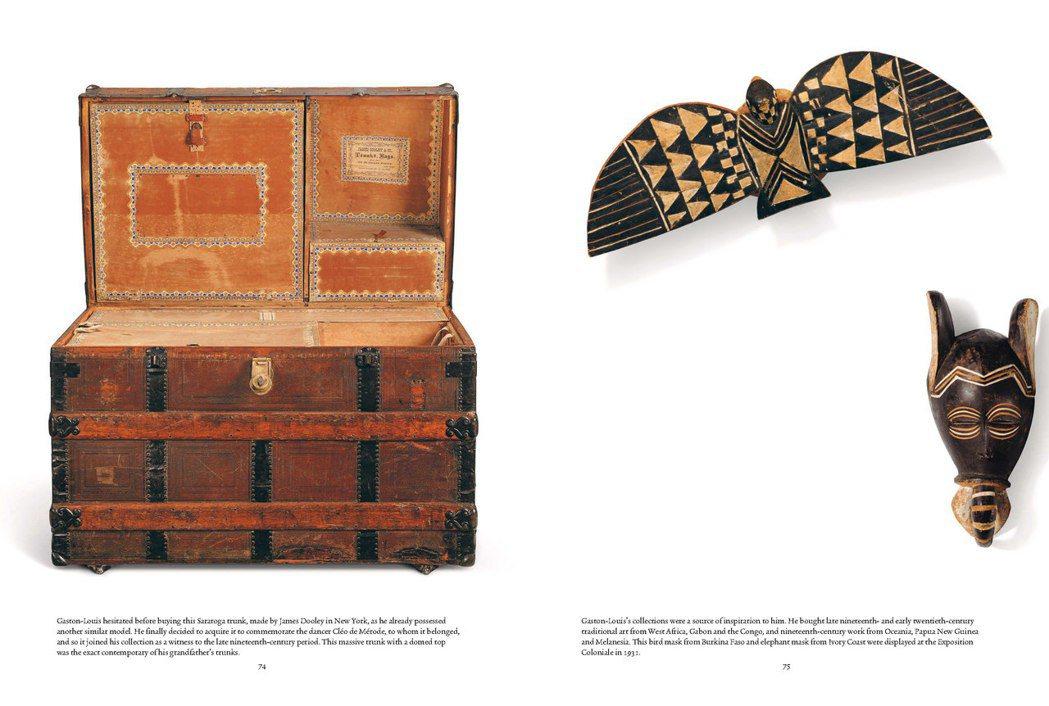 箱子、非洲面具都是加斯頓的蒐藏品項。圖/LV提供