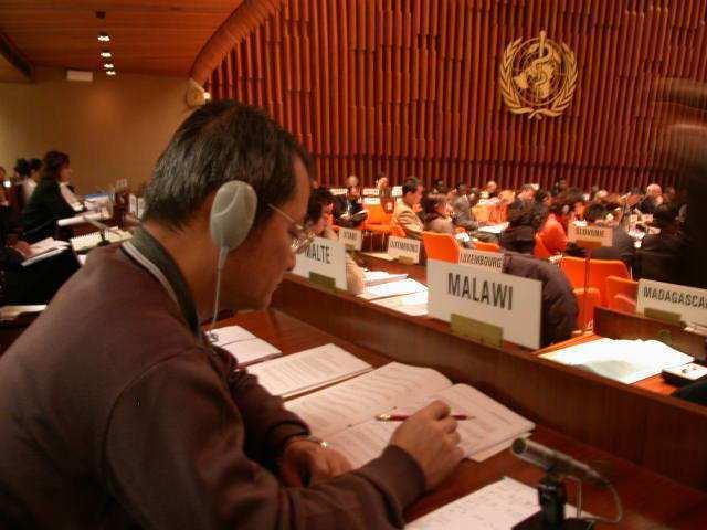 陳志成曾代表馬拉威參加WHO大會。圖/陳志成醫師提供