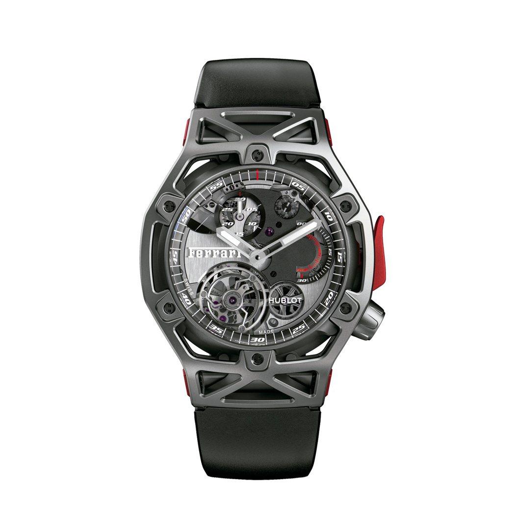 宇舶Techframe Ferrari 70周年鈦金屬陀飛輪計時碼表,全球限量7...