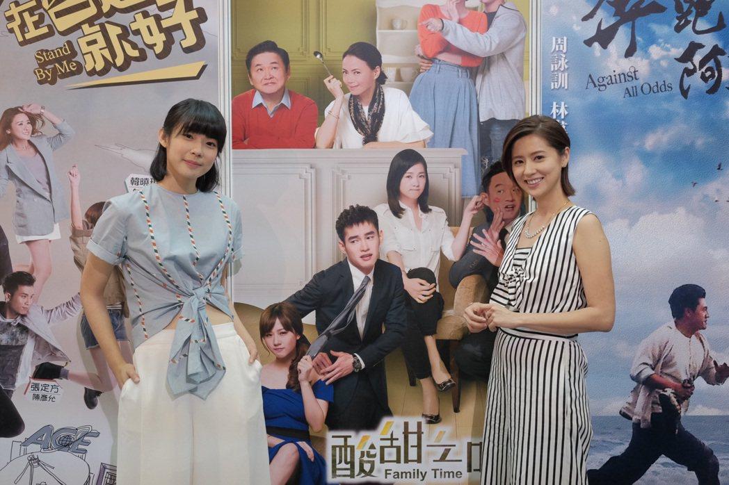 林予晞(右)、宇宙攜手赴越南宣傳「酸甜之味」。圖/電視劇製作產業聯合總會提供