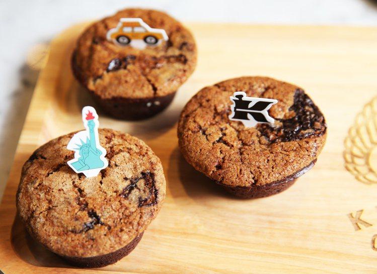 結合美國道地的布朗尼,讓餅乾與蛋糕結合出絕妙滋味的小甜餅布朗尼。圖/記者徐兆玄攝...