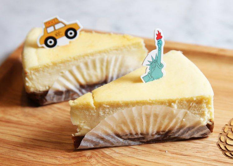 紐約起士蛋糕吃起來口感綿密,香濃卻不至甜膩。圖/記者徐兆玄攝影