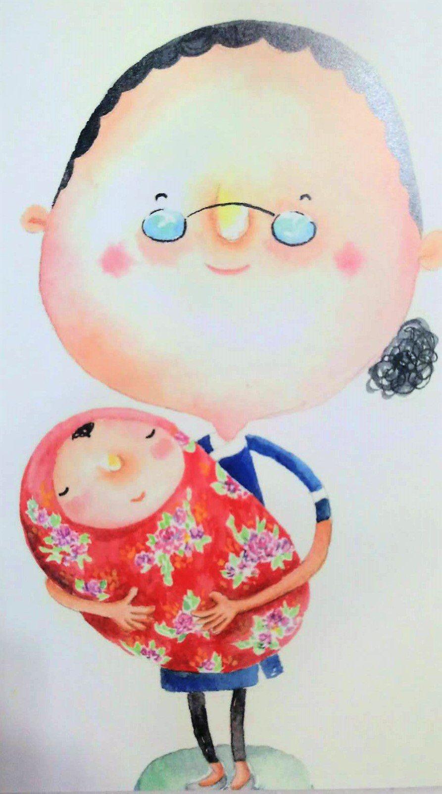 溪口鄉公所今天發表「好運奶奶」兒童繪本,簡叡箴繪的「好運奶奶」可愛逗趣、充滿喜感...