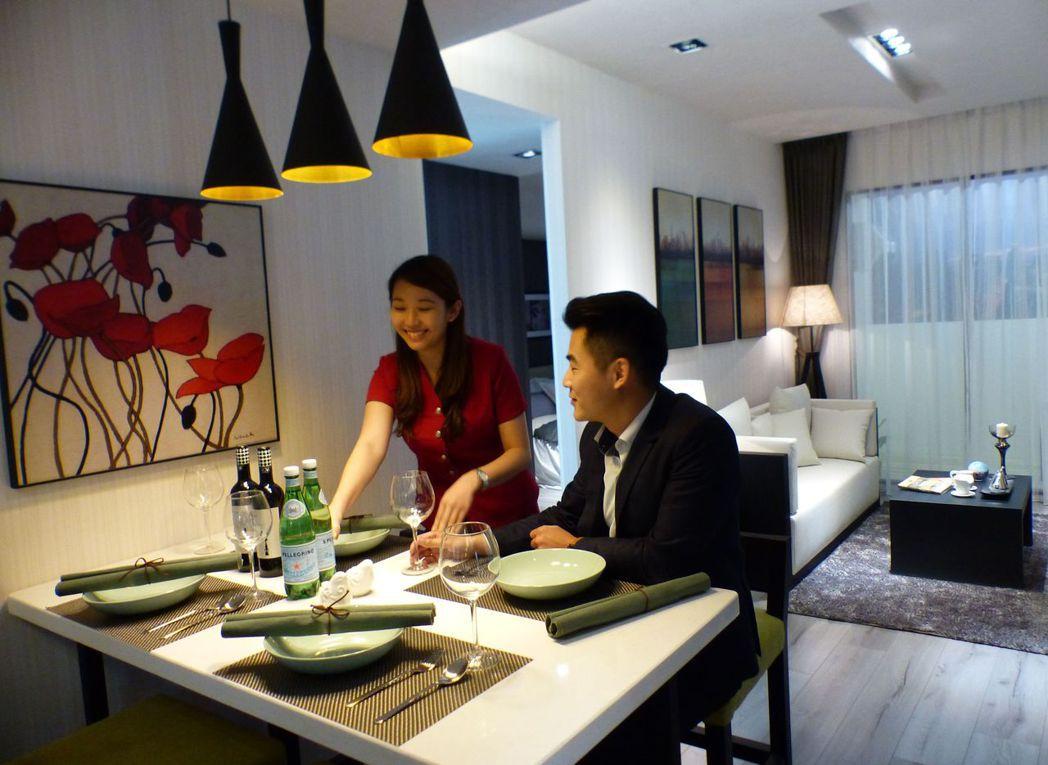 台中市大里區「允將康活」大樓預售案,4月中進場至今,熱銷逾7成。記者趙容萱/攝影