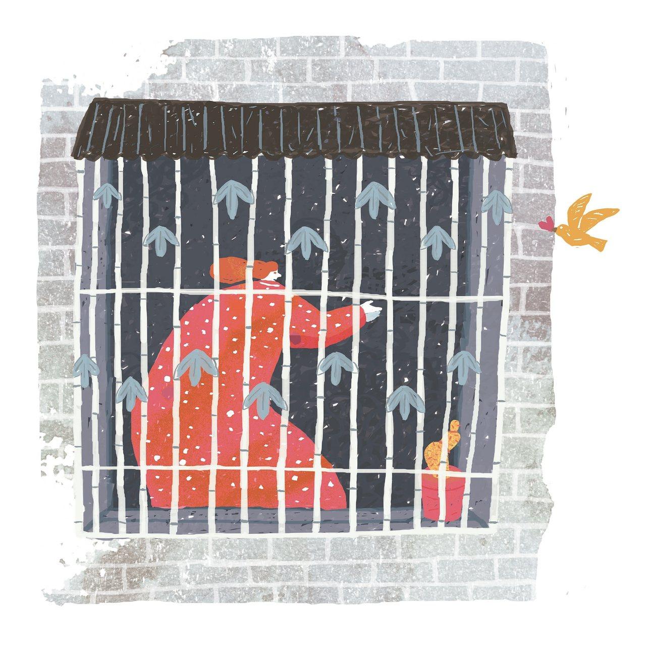 竹棚裡的怨婦 圖/想樂