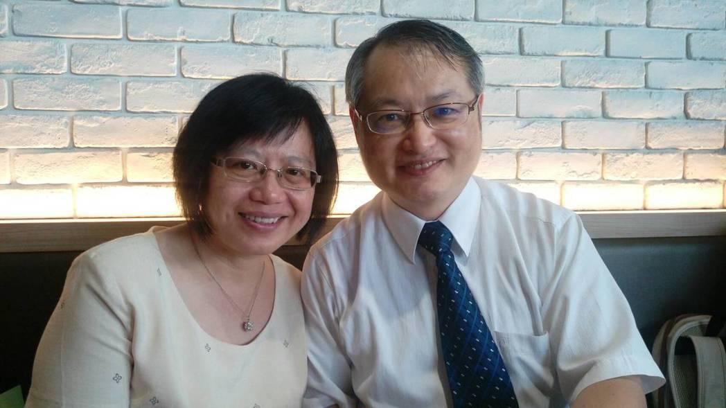 第二屆國際醫療典範獎個人獎-陳志成醫師夫婦合影。 記者羅真/攝影