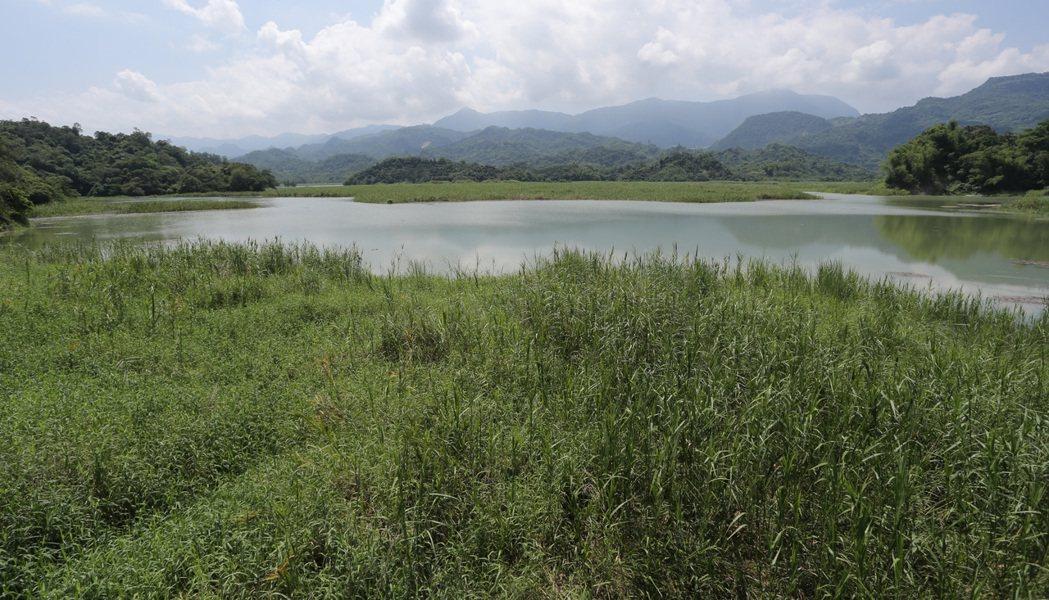台南白河水庫由於淤積嚴重,目前正在進行整治計畫。記者劉學聖/攝影