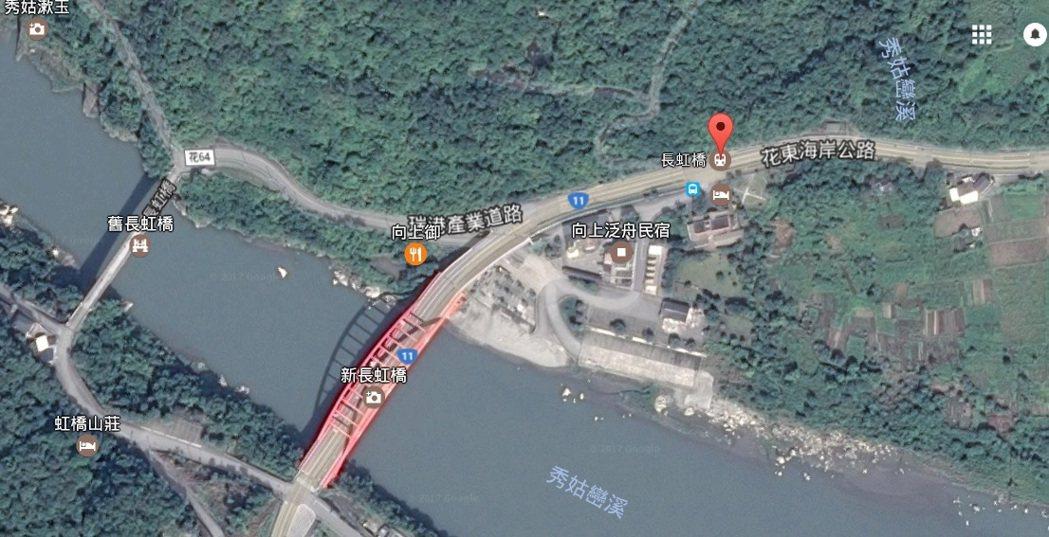 圖為失事地點。擷自google map