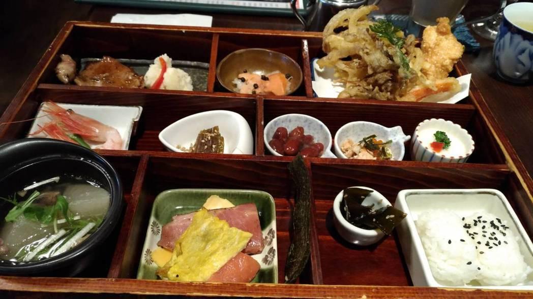 色內食堂午餐時段推出的色內便當箱,使用北海道產的30種食材,就連便當箱也是以北海...