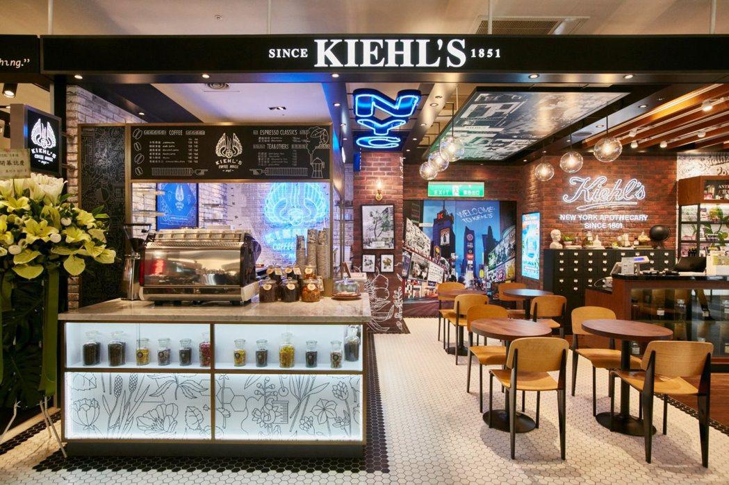感受道地紐約風,全球第一間KIEHL'S咖啡在台北,6月10日新光三越A11開幕...