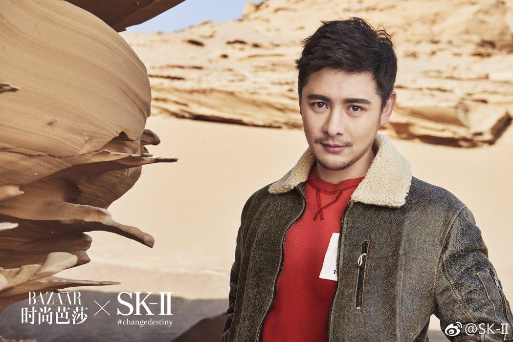 中國時尚部落客gogoboi替SK II擔任「類代言」的行銷活動。圖/摘自微博
