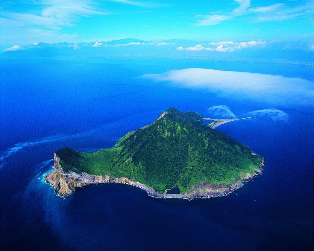 齊柏林的龜山島空照圖。 圖/翻攝自看見台灣